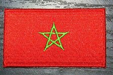 MOROCCO Moroccan Country Flag Embroidered PATCH Badge *NEW*