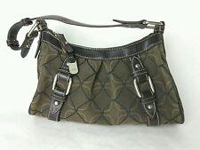 Nine West Buckle Purse Handbag Satchel Womens Fashion Brown JARFF