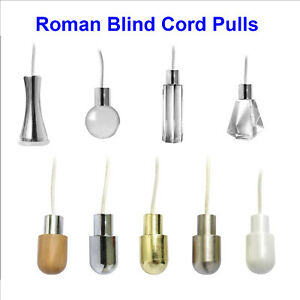 U-Choose Style/Shade Cord Pulls Roman Blinds Light Shower String Weight Free P&P
