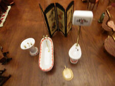VINTAGE DOLLS HOUSE VICTORIAN BATHROOM FURNITURE  EXCELLENT CONDITION