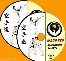 LEARN WADO RYU KARATE TECHNIQUES COMPREHENSIVE KATA DEMONSTRATION 2 X VIDEO DVDs
