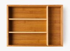 Besteckkasten Cutlery Tray aus Bambus, Innenmaße 23,5 cm x 33,5 cm