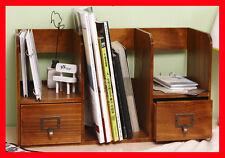 Magazine Newspaper Hanging Storage Decorative Rack Rustic Oak Handcrafted 2E06