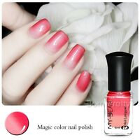6ml Thermal Nail Polish Temperature Change Color Red to Pink Peel Off Varnish