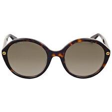 Gucci Brown Gradient Havana Round Sunglasses
