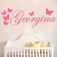 Vinyl Wall Decor Decal v3 Monogram Girl Name Leaf Wreath Custom Girls Name Bedroom Nursery