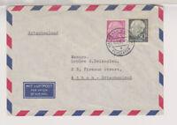 BUND, Mi. 179, 189, Lp-Frankfurt/Flughafen - Athen, 10.10.54