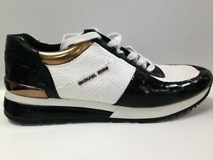 Womans UK Size 8 Unboxed Michael Kors White And Black Low Top Trainers #814