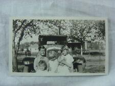 Vintage Car Photo Boys & Girls w/ 1928 Pontiac 818