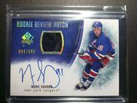 2007-08 SP Authentic Marc Savard Rookie Review 41/100 Autograph Patch Rangers