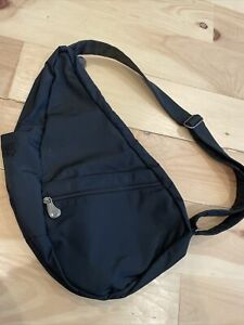 EUC Ameribag Healthy Back Sling Black Nylon Sling Shoulder Bag Purse