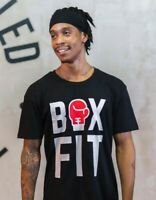 BOX FIT Black T-Shirt Boxercise Boxing Sizes Adult Small to 3XL *BRAND NEW*