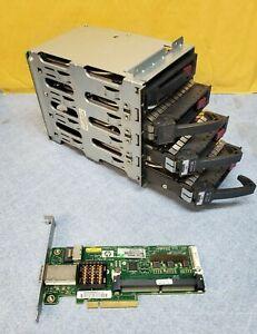 HP 637218-001 ML110 ASA/SATA Drive Cage, caddies, controller and cable