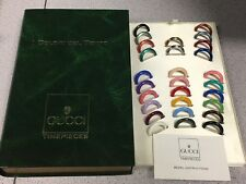 GUCCI Watch 28 Plastic/Metal Bezel Box I COLORI DEL TEMPO Red Green Gold Silver