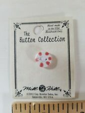 NEW Mill Hill Handmade Ceramic Button for Cross Stitch STRIPED PEPPERMINT CANDY