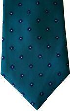 "Surrey Men's Poly Neck Tie Dotty Green Navy Classic 3 1/2"" x 56"""