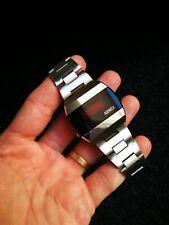 Rare Chunky Arnex Ind. LED Quartz Watch Hughes Aircraft Co. Module