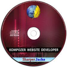 NEW & Fast Ship! KompoZer Website Developer / Designer HTML Editing Software PC