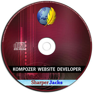 NEW & Fast Ship! KompoZer Website Developer / Designer HTML Editing Software PC