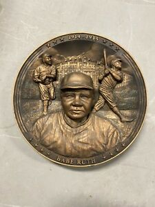 """Babe Ruth 10"""" 3D PLATE 1994 Bradford Exchange """"The Sultan Of Swat"""" 1st Issue FS"""