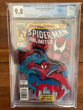 Spiderman Unlimited 1 Newsstand CGC 9.8 White Pages First Appearance MCU Hot!