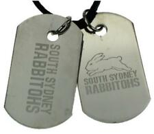 NRL South Sydney Rabbitohs Double Dog Tag Stainless Steel Necklace RRP $49.95