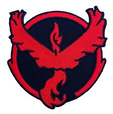 Pokemon Go Red Team Valor Patch (3 Inch) NEW Iron-on Badge Costume Patches