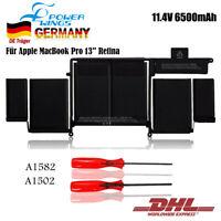 "6500mAh 11,43V A1582 Akkus Für Apple MacBook Pro 13"" Retina A1502-2015 EMC 2835"