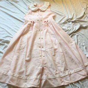 Vintage Bonnie Jean New York Girls Pink Wedding Easter Party Dress Sz 10