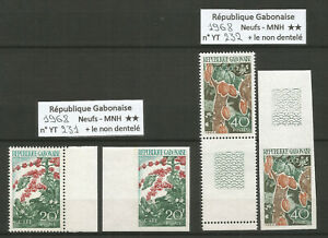 Gabon 1968 - Stamps n° 231 & 232 - Perforated & Inperforated - MNH **