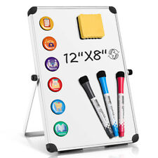 1pc Magnetic Dry Erase White Board Double Sided For Kids Drawing Office Planner