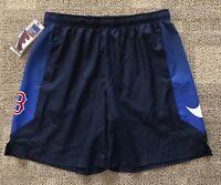Nike Dry Men's Size Medium M Athletic Shorts Navy Blue MLB Boston Red Sox