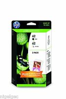 HP 62 BLACK & COLOUR INK FOR ENVY 5640 5740 7640 OFFICEJET 7640 5740 J3M80AE