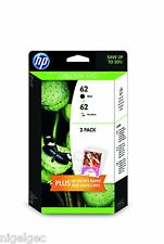 HP 62 BLACK & COLOUR INK FOR ENVY 5640 5740 7640 OFFICEJET 7640 5740 J3M80AE