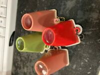 4 - Vintage RISQUE 1960's NUDE GIRL KEYCHAIN PEEP SHOW VIEWER (8 )