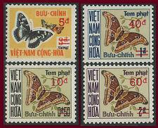 VIETNAM 1974 Taxe n°21/24** SERIE PAPILLONS  /  BUTTERFLIES Postage Due SET MNH