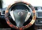 Hand Made Steering Wheel Covers Halloween Patch Print