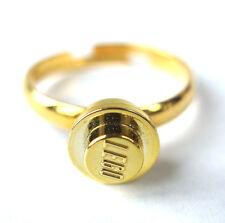 Ring Handmade with Metallic Gold LEGO Stud Engagement Wedding brick proposal