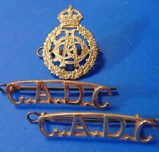 ARMED FORCES WW2 Canadian Army Dental Corps CADC cap badge shoulder board titles