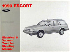 1990 Ford Escort Electrical and Vacuum Troubleshooting Manual Pony LX GT OEM