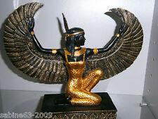 Maat ägyptische schwarz/goldene Kunststein Figur Statue Ägypten 90092