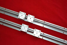 Top 2 linear bearing slide unit SBR16-600mm supported rails+4 blocksfor CNC