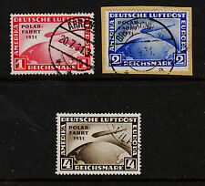 1931 Germany Graf Zeppelin Polarfahrt Set Sc#C40-2 Used VF 2m on Piece Original
