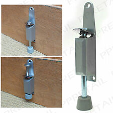 125mm Kick Down Foot Operated Door Stop Satin Aluminium Stopper Prop Stay Spring