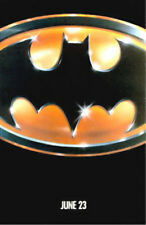 1989 BATMAN ADVANCE TEASER JACK NICHOLSON ORIGINAL MOVIE POSTER  ONE SHEET