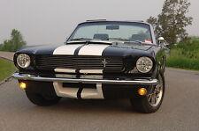 1965 1966 Mustang 1967 Shelby Style twin scoop New Fiberglass Hood