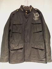 Mens Nautica Jeans Co Military Style Coat Jacket Zipper Front Poly Cotton  Sz XL