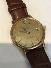 Omega Mens Cal 1010 Automatic Seamaster Watch Gold Plated