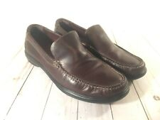 Cole Haan mens Brown leather slip on casual shoes loafers 9M