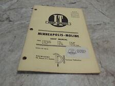 Minneapolis Moline Ub Uts 5 Star M5 M602 604 Mm 16 It Tractor Repair Shop Manual